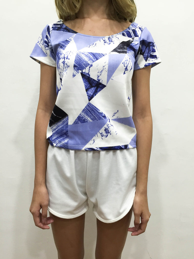 [MixLabel] Prints & Triangles Top