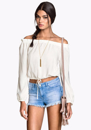 [H&M] Denim Frayed Shorts