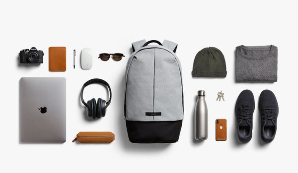 Bellroy Classic Backpack Plus Flatlay