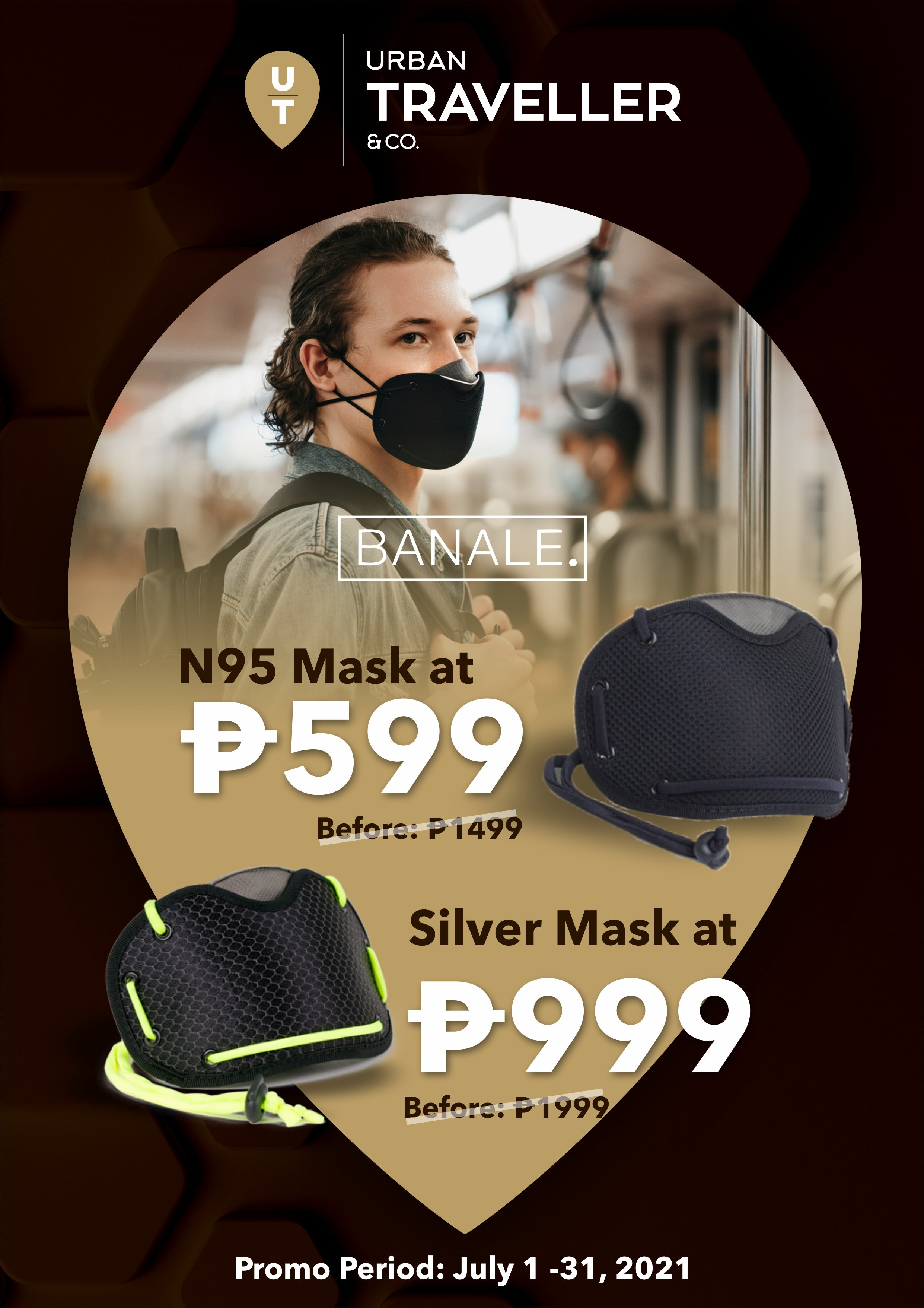 Urban Traveller and Co Mid Year Sale Banale Mask