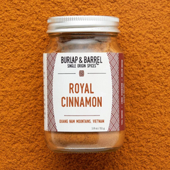 Burlap Royal Cinnamon