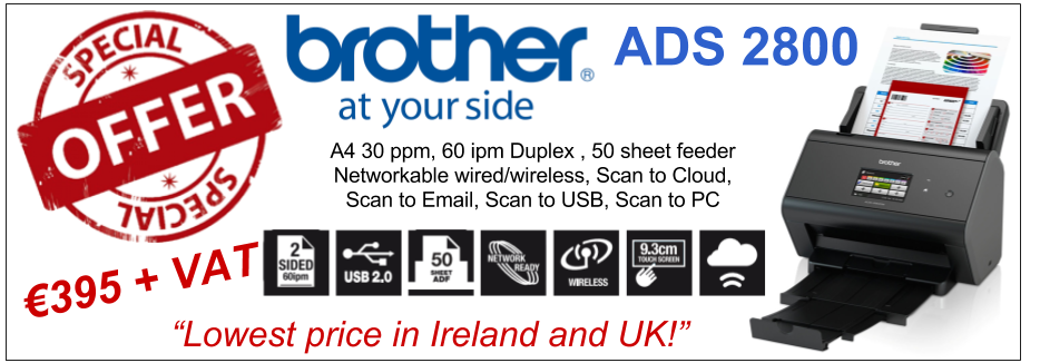 Brother ADS2800 Ireland