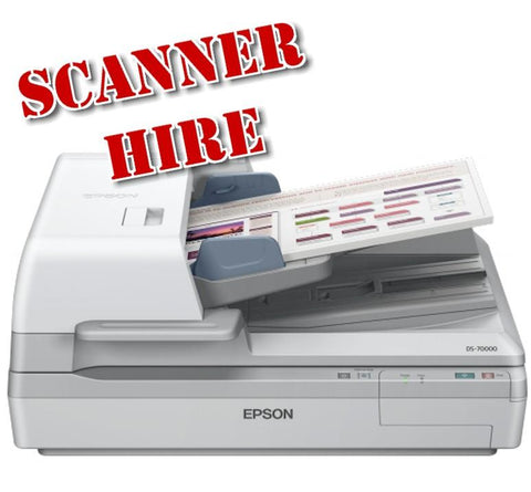 A4 ADF Flatbed Fast Document scanner hire rental