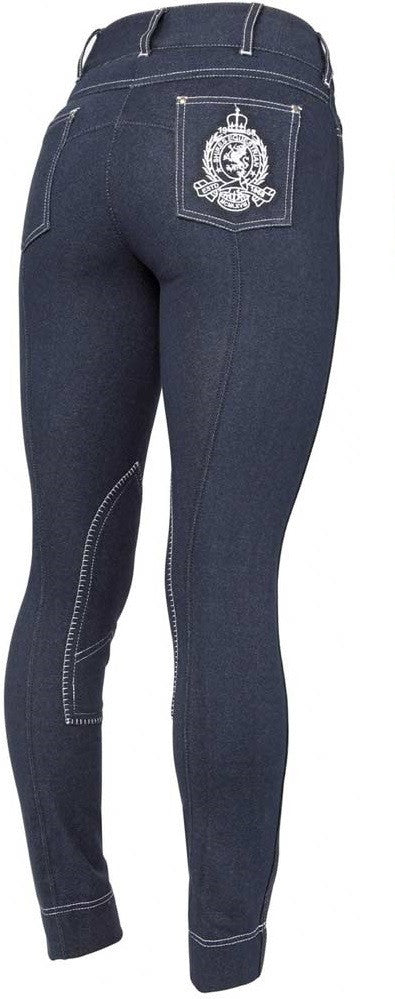 Shires Ladies Navy Denim Breeches 32