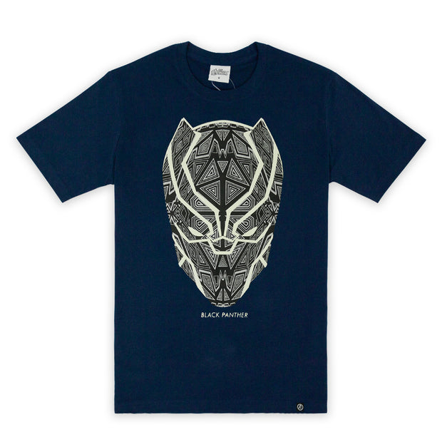 Marvel Men's Black Panther Glow In The Dark T-shirt - เสื้อแบล็คแพนเธอร์เรืองแสง