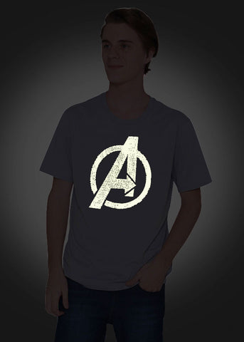 Avengers Glow In The Dark T-Shirt-T-SHIRT-Marvel-Grey-XS-Characters Studio