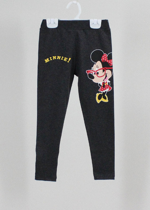 เลคกิ้งเด็ก มิกกี้เม้าส์ Mickey Kid - Leggings-leggings-Mickey Mouse & Friends-Dark grey-S-Characters Studio
