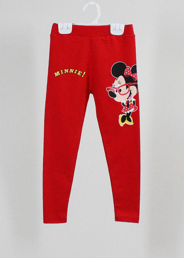 เลคกิ้งเด็ก มิกกี้เม้าส์ Mickey Kid - Leggings-leggings-Mickey Mouse & Friends-Red-S-Characters Studio