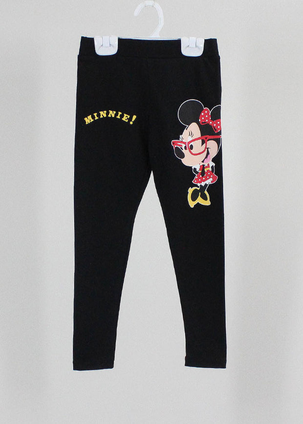 เลคกิ้งเด็ก มิกกี้เม้าส์ Mickey Kid - Leggings-leggings-Mickey Mouse & Friends-Black-S-Characters Studio
