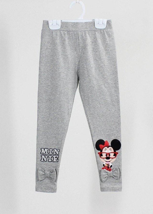 เลคกิ้งเด็ก มิกกี้เม้าส์ Mickey Kid - Leggings-leggings-Mickey Mouse & Friends-Grey-S-Characters Studio