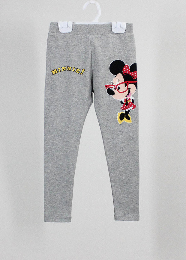 เลคกิ้งเด็ก มิกกี้เม้าส์ Mickey Kid - Leggings-leggings-Mickey Mouse & Friends-Light grey-S-Characters Studio