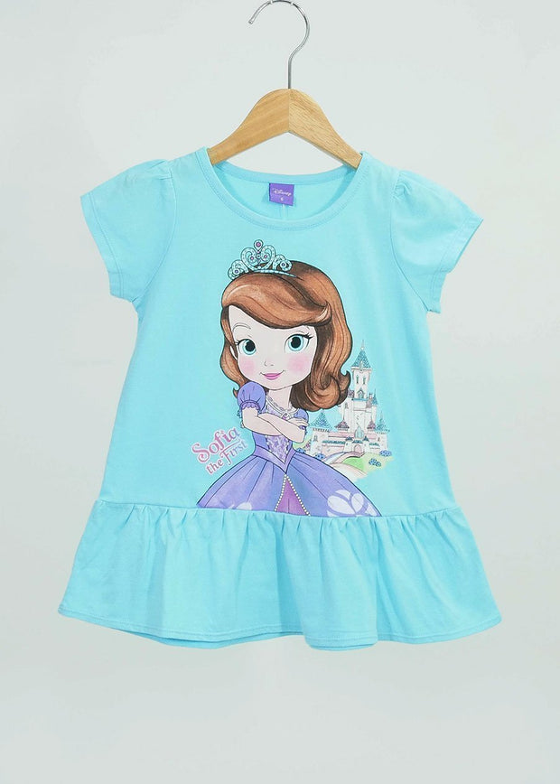 เสื้อเด็ก เจ้าหญิงโซเฟีย - Sofia the first - T Shirt-T-Shirt-Sofia The First-Light Blue-4-Characters Studio