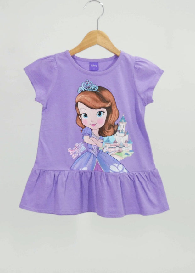 เสื้อเด็ก เจ้าหญิงโซเฟีย - Sofia the first - T Shirt-T-Shirt-Sofia The First-Violet-4-Characters Studio