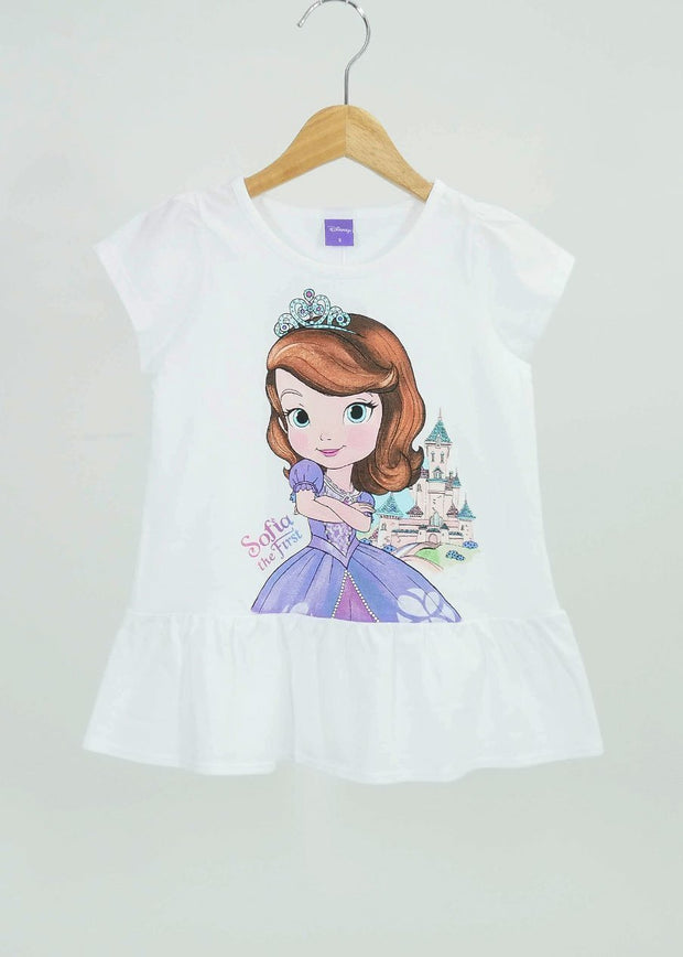เสื้อเด็ก เจ้าหญิงโซเฟีย - Sofia the first - T Shirt-T-Shirt-Sofia The First-White-4-Characters Studio