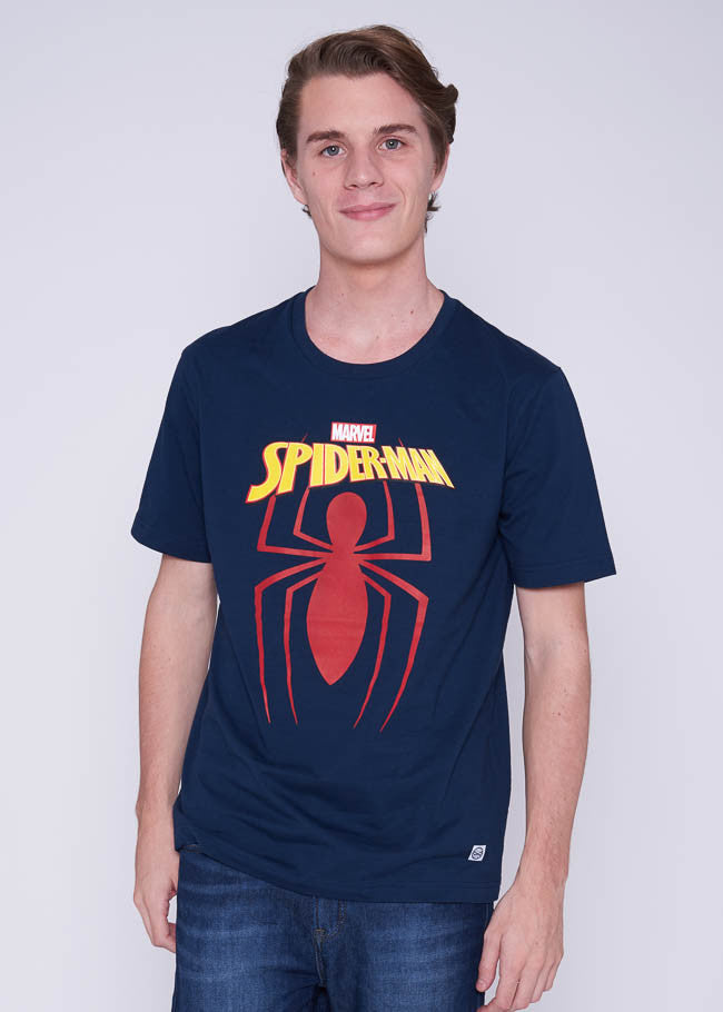 เสื้อสไปเดอร์แมน Marvel Graphic T-shirt - Spider-Man-T-Shirt-Marvel-Navy-XS-Characters Studio