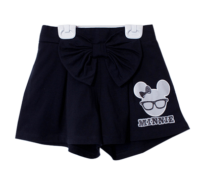 กางเกงเด็ก มิกกี้เม้าส์ Mickey - Kid Shorts-Shorts-Mickey Mouse & Friends-Black-S-Characters Studio