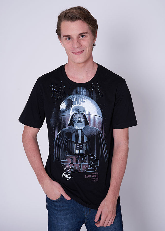 Men's Star Wars Darth Vader T-shirt-T-Shirt-Star Wars-Black-XS-Characters Studio
