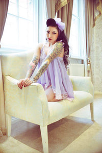 Joan Babydoll in Signature Lilac