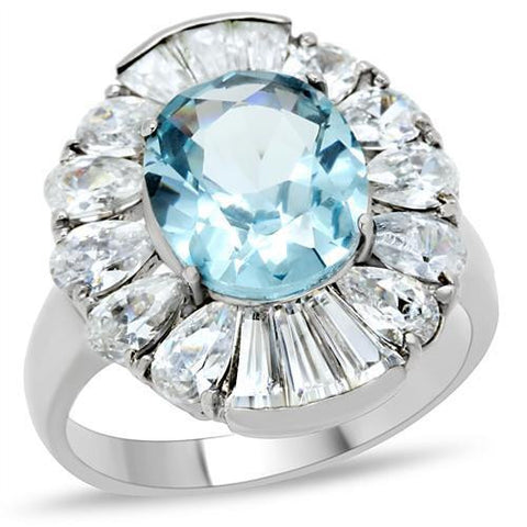 Bague d'aquamarine et stainless steel