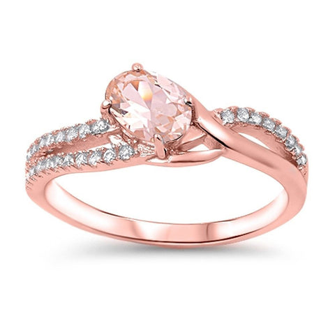 Sublime bague de morganite rose
