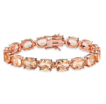 Bracelet de morganite et or rose