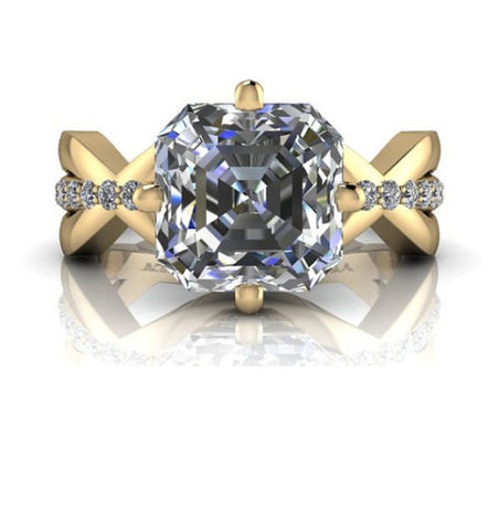 Impressionnant solitaire de 3.05ct de diamants et or 10K