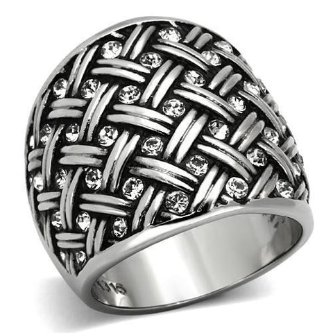 Bague cocktail de stainless steel