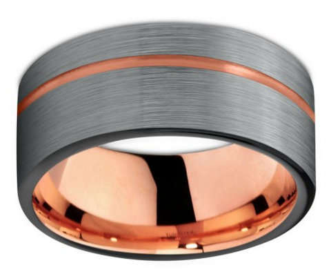 Jonc de tungsten et or rose