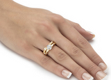 Sublime duo de bagues infini de 1.92ct
