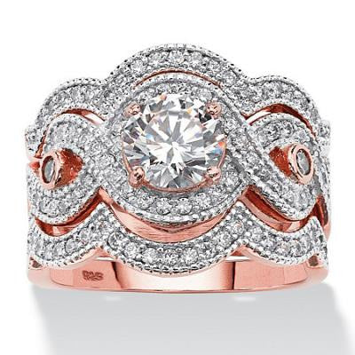 Ensemble de bagues de 2.37ct CZ