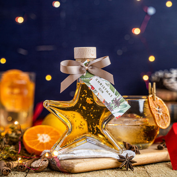 Christmas Gin Liqueur with edible gold sparkle - 18%