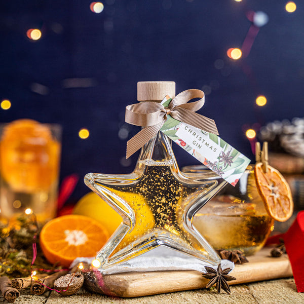 Christmas Gin Star with edible gold sparkle - 40%