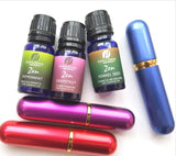 Three Aromatherapy Inhalers  (3 - Pink, Blue & Red)