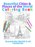 ON AMAZON Beautiful Cities & Places of the World Coloring Book