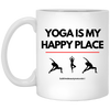 Yoga is My Happy Place Coffee Mug