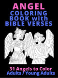ON AMAZON ONLY Angels Coloring Book with Bible Verses