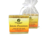 Fresh LEMON CINNAMON Soaps (2 Bars) Sold Together