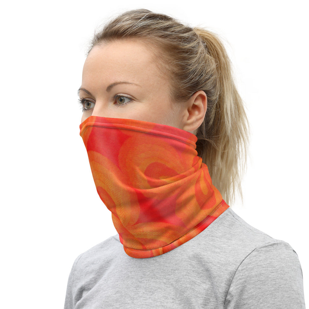 Face Mask Neck Gaiter Vibrant Orange
