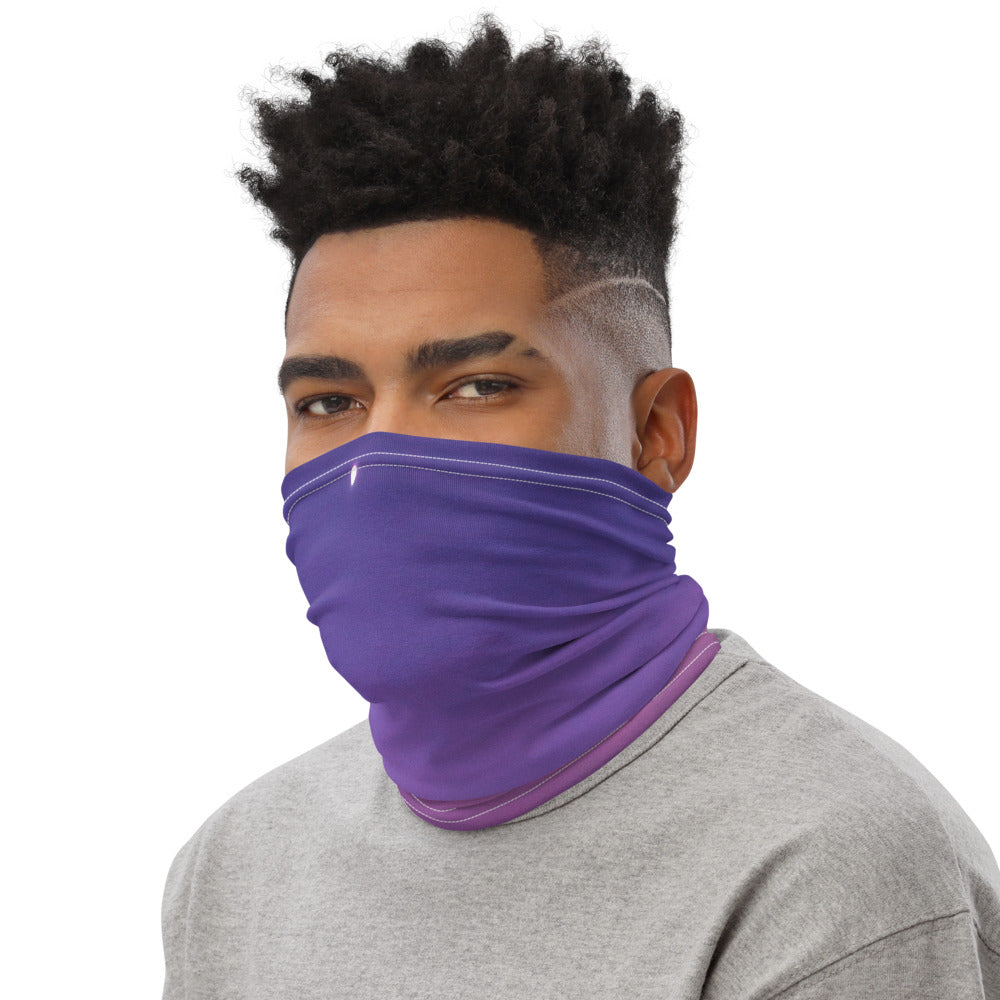 Face Mask Neck Gaiter Purple Sunset