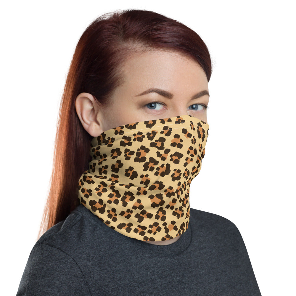 Neck Gaiter Face Mask Leopard Print Look
