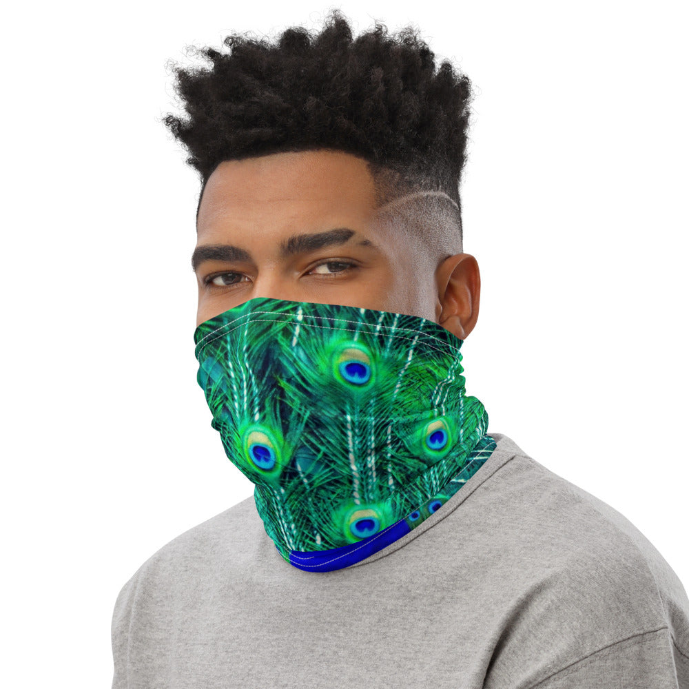 Face Mask Neck Gaiter Peacock Print