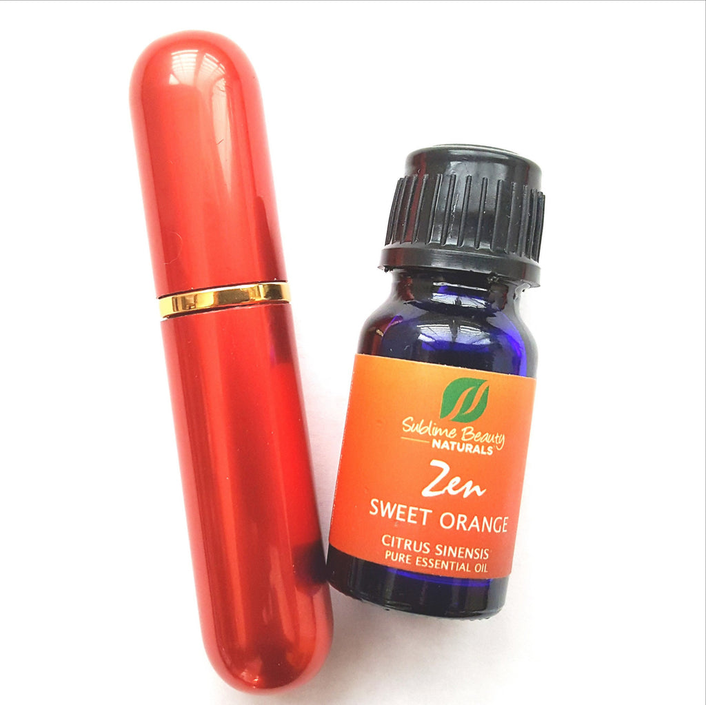 Aromatherapy Essential Oil INHALER Happy Orange