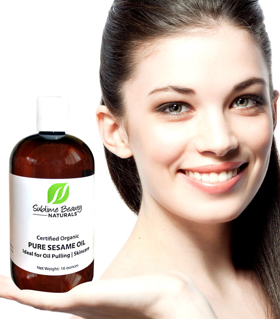 USDA Certified Organic 16 oz SESAME OIL for OIL PULLING