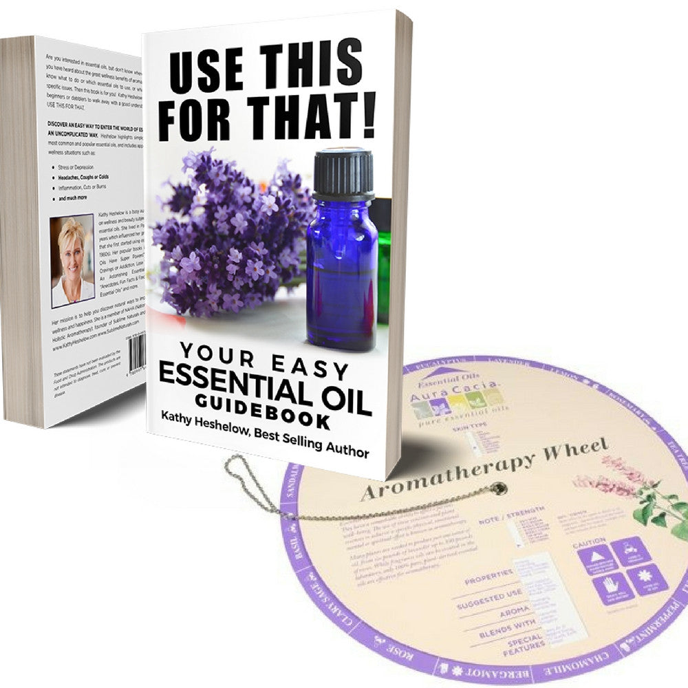 Author-Signed Book USE THIS FOR THAT: ESSENTIAL OIL GUIDEBOOK Plus Aromatherapy Info Wheel
