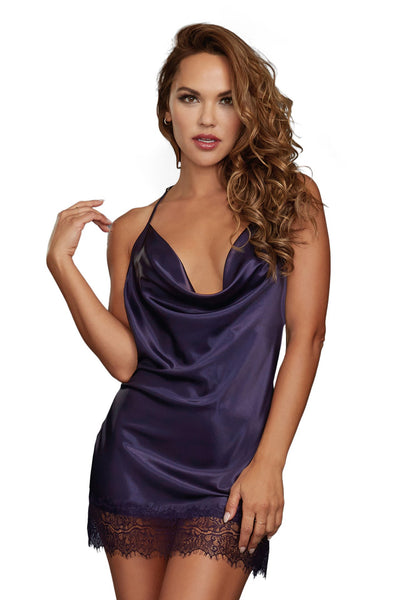 Slinky Little Number Cowl Neck Chemise