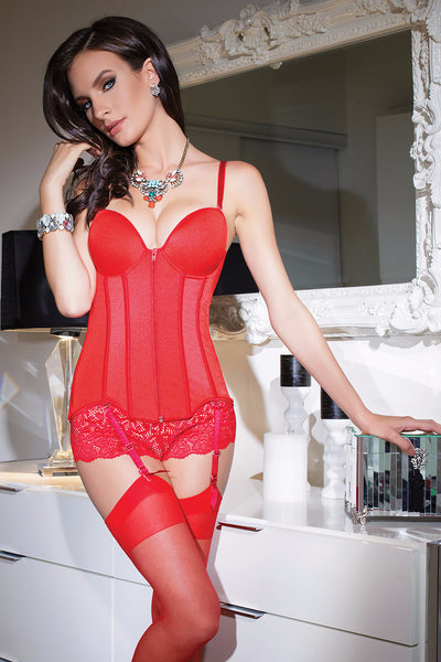 Bound Boutique Conqueress Bustier in Red