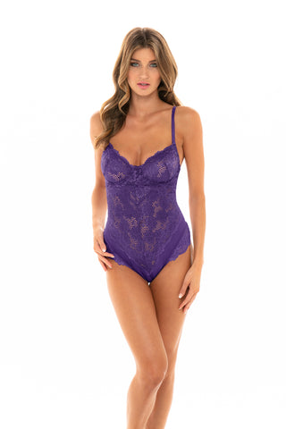 The Last Page Underwire Teddy in Ultra Violet