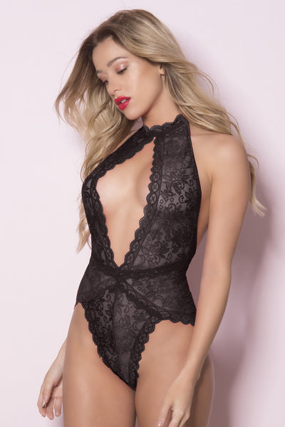 My Aim is True Plunge Teddy in Black