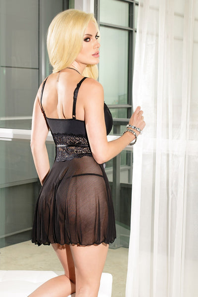 Lace Bedroom Dress in Black