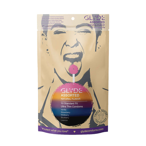 Glyde Ultra Flavored Condoms Multi Flavor Pack